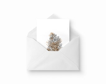2 Pine Cone - Greeting card