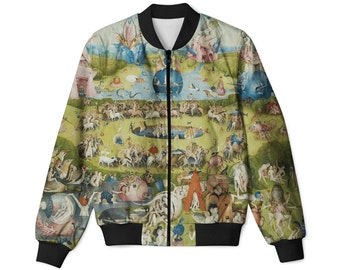 The Garden of Earthly Delights Hieronymus Bosch paintings bomber jacket | all sizes, full print