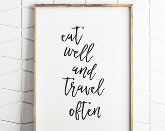 printable travel decor, travel quote art, travel motivational art, travel download art, travel home decor