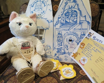 Easter Cat Kitty White ALABAMA SEC Build A Bear Bama CAT Jersey Clothes Flip Flops with Box