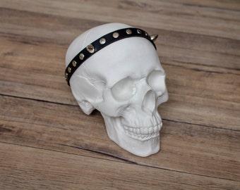 Spiked Headband - Silver Spiked Headband - Leather Headband - Crown - Spiked Crown - Devil Horns Headband