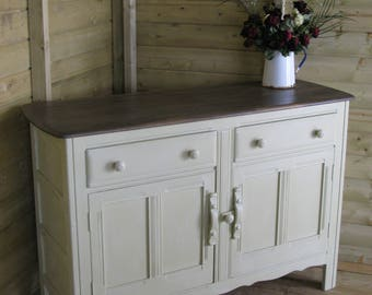 Shabby chic painted Ercol sideboard, versailles annie sloan