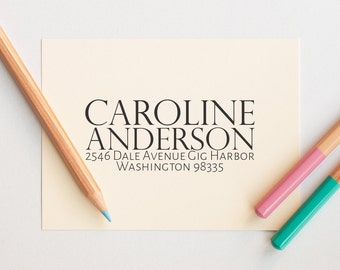 Personalized Return Address Stamp, Self Inking Address Stamp, Simple Address Stamp, Custom Address Stamp,  Business Address Stamp, Stamps
