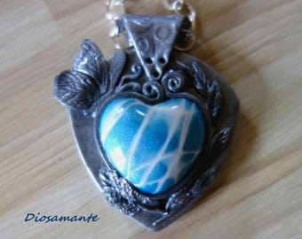 Imitation silver pendant crafted