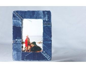 Handmade Denim Picture Frame (4x6in.)