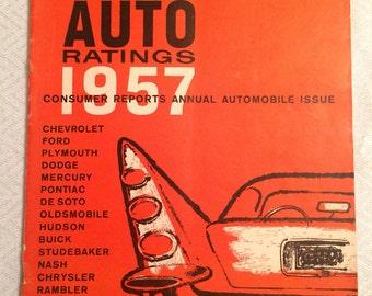 Vintage Consumer Report Auto Edition 1957