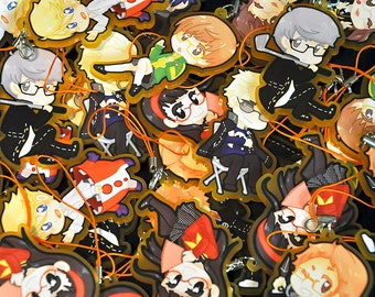 """Persona 4 Investigation Team 2.5"""" Acrylic Charms"""
