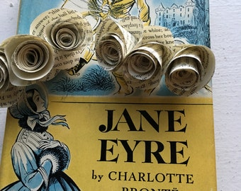 Jane Eyre Book Page Flower Hair Clips