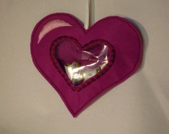 Heart bag, gift wrapping for candy, money gifts, vouchers and many little things