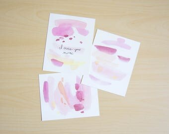 Red Painted Postcards