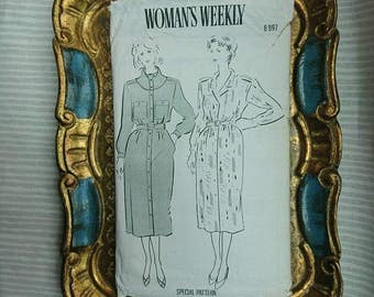 Vintage 1980's Woman's Weekly Fabric Dress Pattern BoutiqueByDanielle