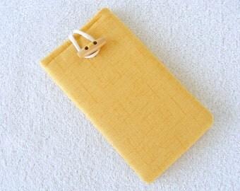 "IPhone 6 Sleeve, IPhone 7 Cover Sleeve, Yellow IPhone Sleeve 6, Cell Phone Case, Cell Phone Cover, IPhone 6 or 7 Sleeve, 6 1/2""  x 3 1/2"""