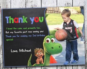 Good dinosaur Thank you card, Good Dinosaur Birthday, The Good Dinosaur Birthday Party, The Good Dinosaur Birthday Party