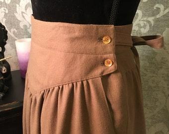 Vintage Skirt-Size 11-Vintage Bottoms-Womens Vintage Clothing-Vintage Skirts-Womens Vintage-Brown Vintage Skirt-Unique Vintage Skirt