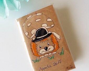 "Pocket diary Illustrated """"hedgehog breton 2017"