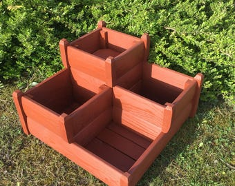 Three Tiered Planter, Wooden planters, Garden planter, Outdoor Planters (Free Delivery)