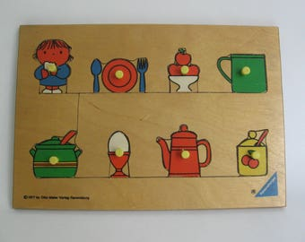 Wooden puzzle illustrated by Dutch designer Dick Bruna