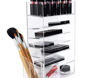 Ikee Design Acrylic Makeup & Lipstick Storage Box and Organizer (SKU# COM1701)