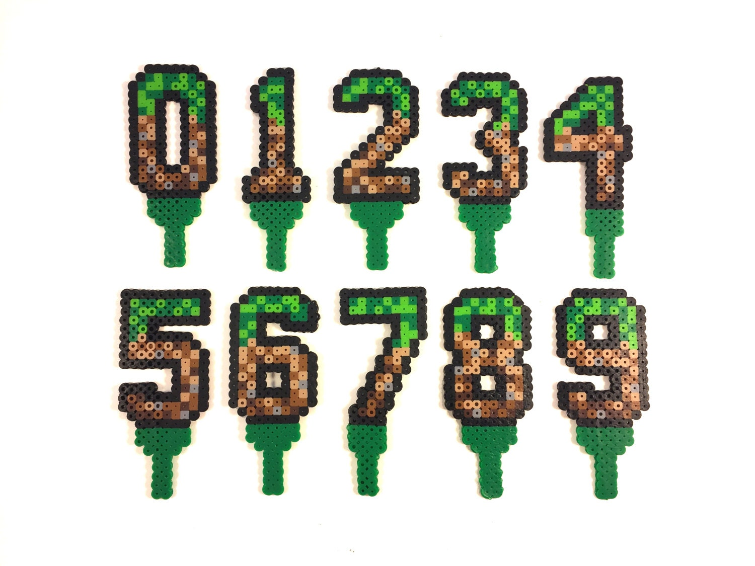 Minecraft Inspired Birthday Cake Age Numbers From