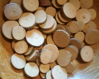 10x Small wood rounds 1-3cm