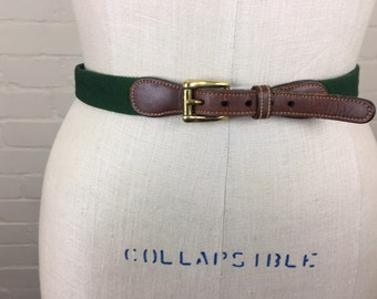 Vintage 80's Dooney and Bourke belt / green / leather
