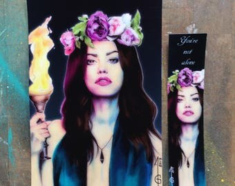 Hayley Marshall  (Phoebe Tonkin) in The Originals (The Vampire diaries) - FANART (bookmark, postal card)