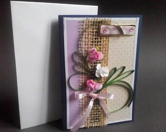 greeting cards handmade, Especially for you, greeting card flower, floral greeting card, flowers card, fine art card, flower art postcard