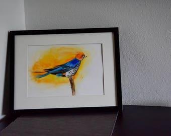 Sparrow - Original Watercolour Painting, NO PRINT