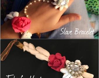 Floral Harem Bracelet | Slave Bracelet