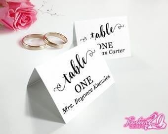 Wedding Place Cards   DIY Wedding   DIY Place Cards   Tented Place Cards   Flat Place Cards   Place Cards Digital Download PDF Wedding Decor