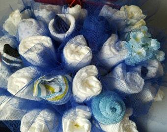 diaper bouquet - airplane shower - baby boy shower centerpiece - baby shower gift - baby boy shower - unique baby gift