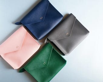 Monogram Envelope Clutch, Personalized Gift, Envelope Purse, Bridesmaid Gift, Gift for Her, Personalized Clutch, Birthday Gift