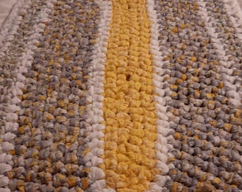 """51"""" x 26"""" Oval Rag Rug.  My rugs are made 100% new pre-washed cotton fabric, thick and cozy"""