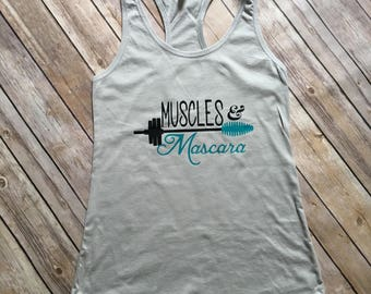 Muscles & Mascara Womens Workout Tank-Top
