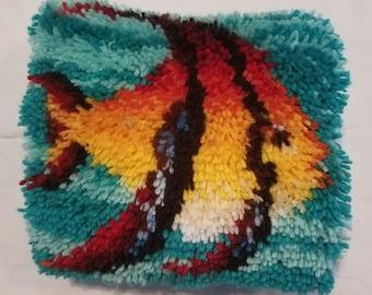 Latch Hook Fish Pillow