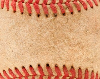 Baseball Vinyl - Baseball Leather Vinyl - Available as Adhesive or Heat Transfer Vinyl - HTV - Baseball Print