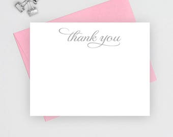 Thank you note cards, Wedding thank you cards set, Wedding Stationery, thank you notes, thank you cards wedding, flat notecards, TC3