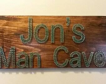 Men's Man Cave sign