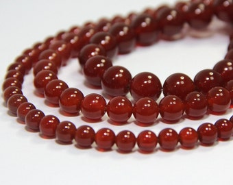 Orange Carnelian Beads 4 6 8 10 12mm Carnelian Mala Beads Red Agate Beads Red Mala Bead Red Gemstone Reiki Beads Chakra Jewelry Supplies