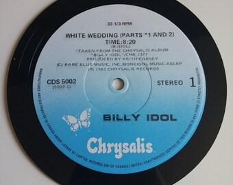 Vinyl Record Magnet - Billy Idol White Wedding