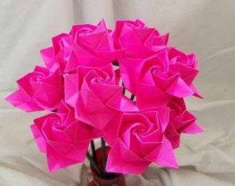 Origami Roses - 1 dozen