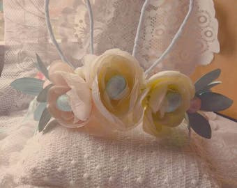 Easter Bunny Formable Ears Floral Crown