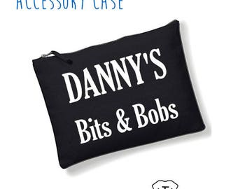 Men's Personalised Name Mans Bag Stuff Beard Moustache Grooming Birthday dad Fathers Day