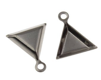 5 pairs x 9mm Stainless steel triangle setting