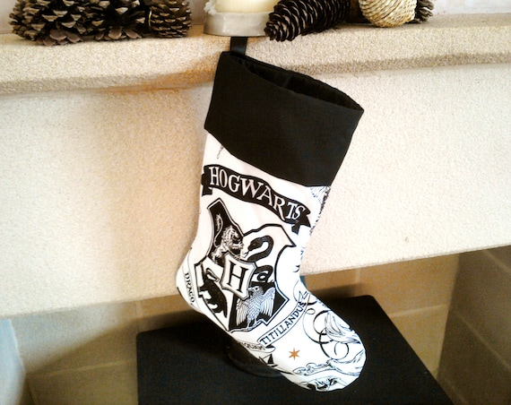 Hogwarts Christmas stocking - Harry Potter luxury padded stocking with black cotton inner