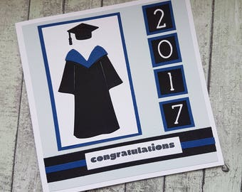 Graduation cap and gown card / Grad card / High School Graduation card / College Graduation/ University Graduation card /Congratulations