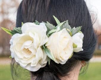Flower hair comb, hair accessories, bridal comb