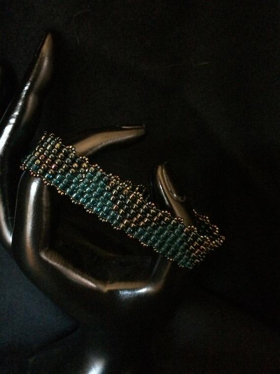 NO 103 Hand Beaded Glass Bracelet
