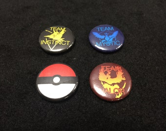 1 inch Pokemon Go Button Set