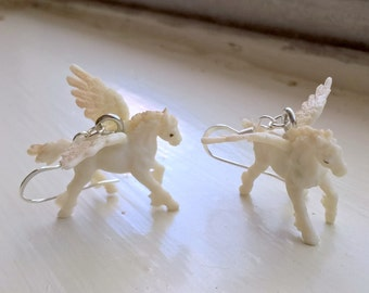 Pegasus ear comic con jewelry fantasy horse anime cute animal earrings
